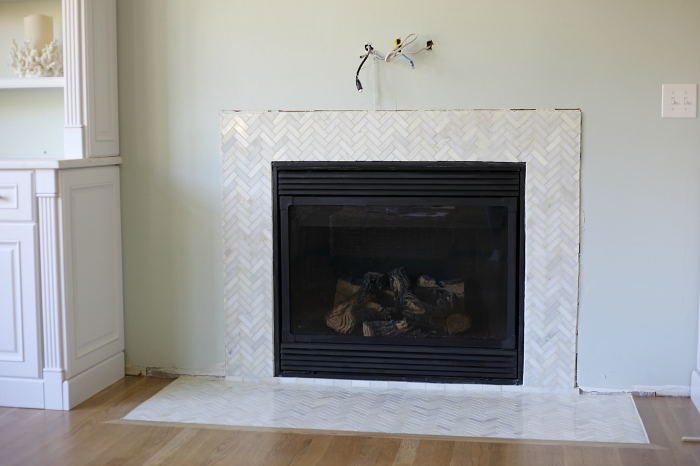 Top Herringbone Tile Fireplace Surround Wallpapers