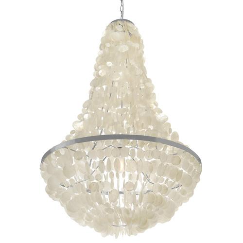 Fabulous Manor Light Capiz Seashell Chandelier