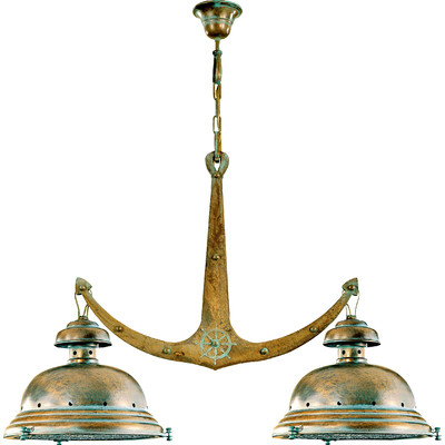 Nautical Brass Anchor Chandelier -Coastal Chandeliers and Pendants