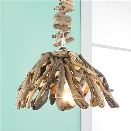 Reclaimed Driftwood Pendant-Coastal Chandeliers and Pendants