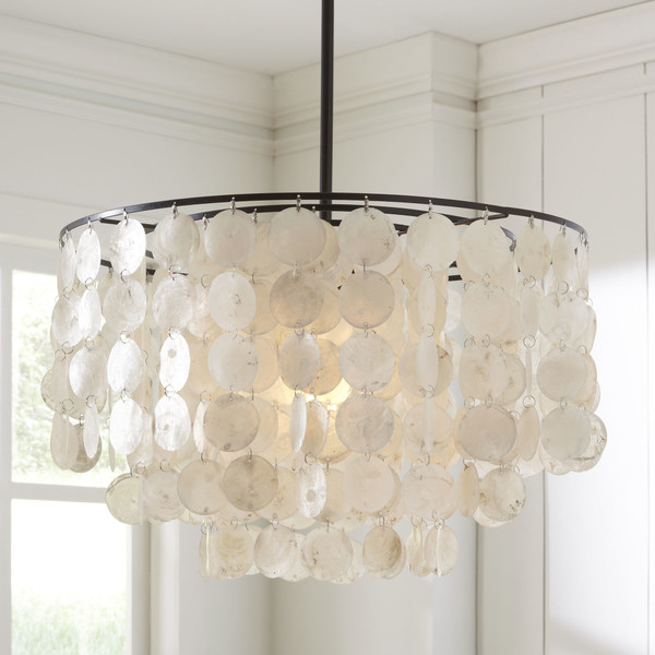 Capiz-shell-Pendant-Coastal Chandeliers and Pendants