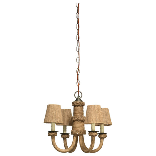 Vintage Sisal Rope Chandelier Coastal Chandeliers and Pendants