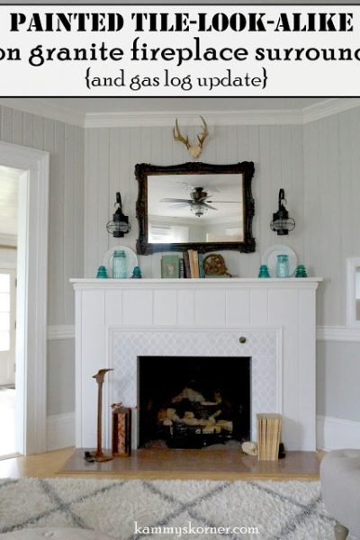 Stenciled Fireplace Surround