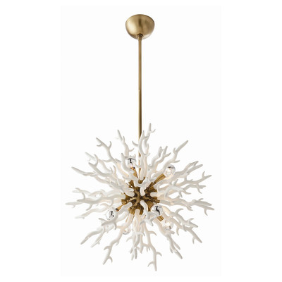 Simple White Coral Chandelier