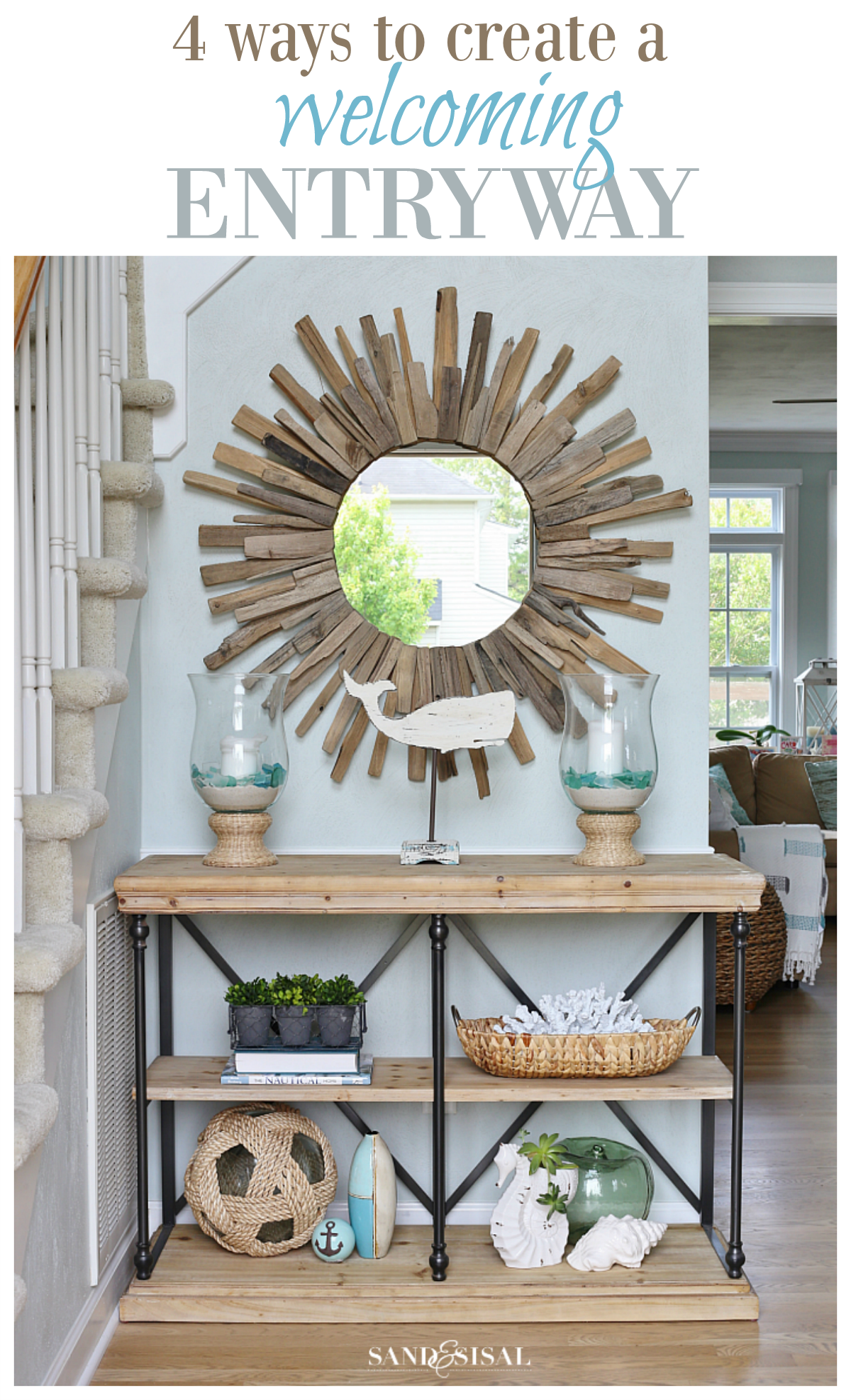 4 Ways to Create a Welcoming Entryway - Pin