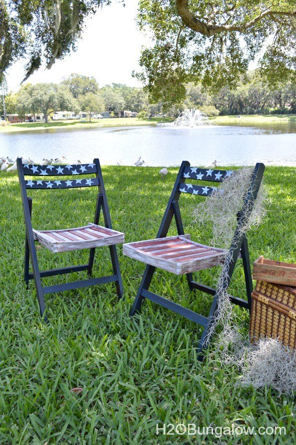 Americana Decoupage Chairs