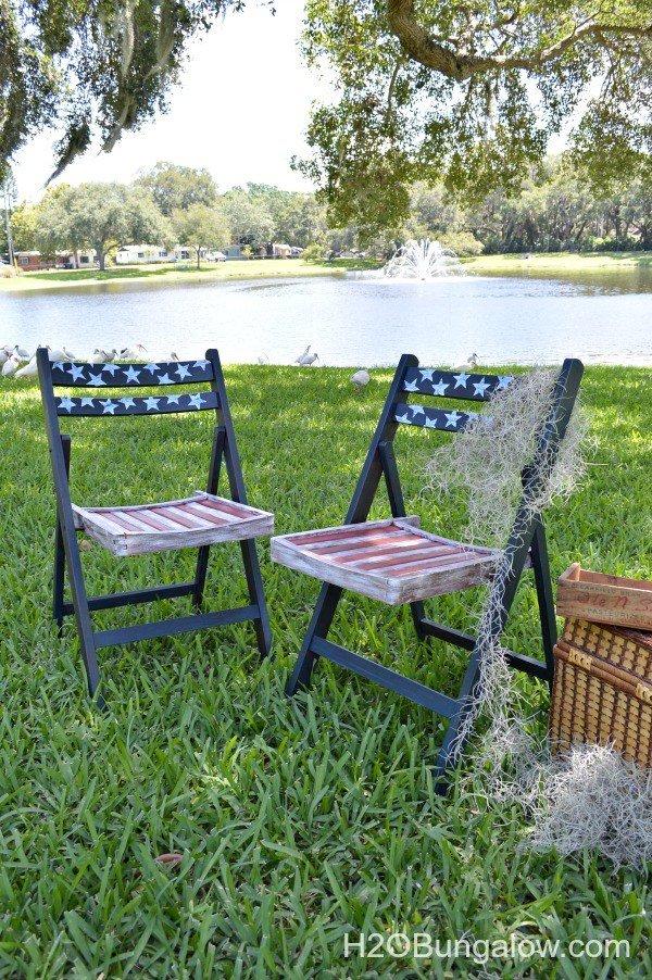 Americana Decoupage Chairs