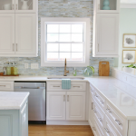 Coastal Backsplash and Kitchen Makeover - Lunada Bay Tile
