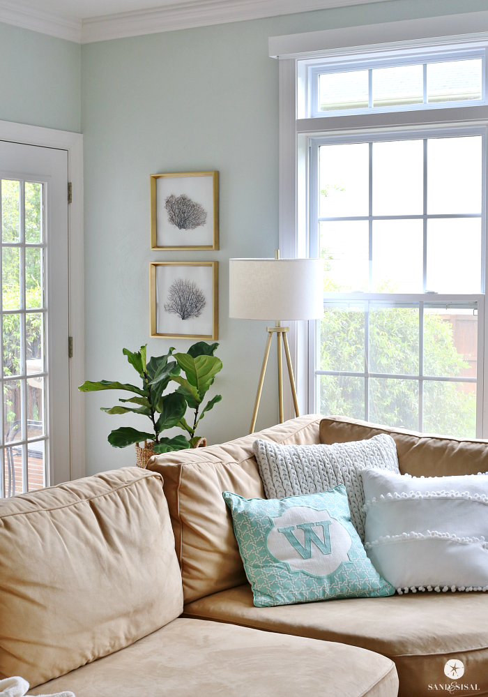 Coastal Family Room Decor