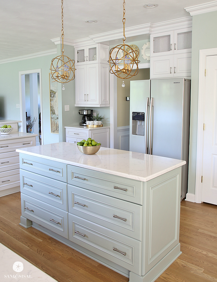 Coastal Kitchen Island - Oyster Bay