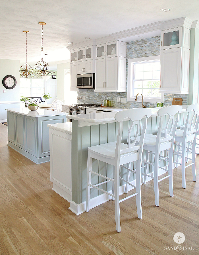 Coastal kitchen makeover the reveal for Beach inspired kitchen designs
