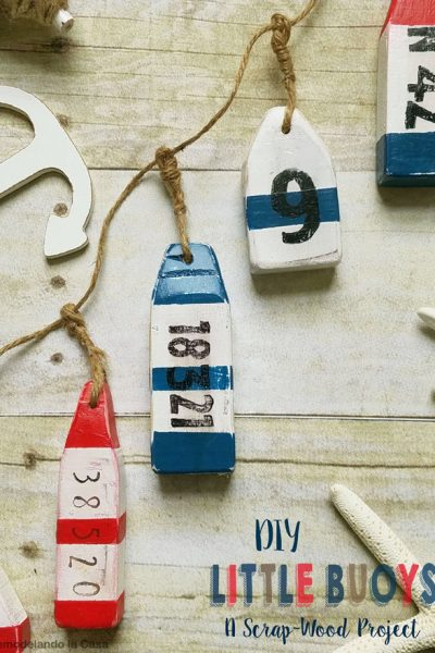DIY little buoys - a scrap-wood project