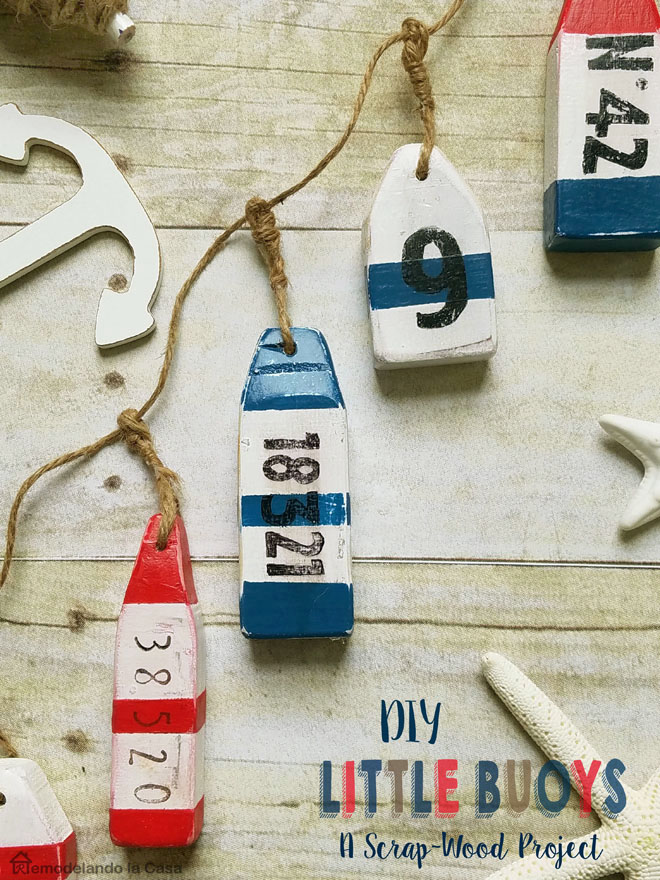 DIY little buoys - a scrap-wood project