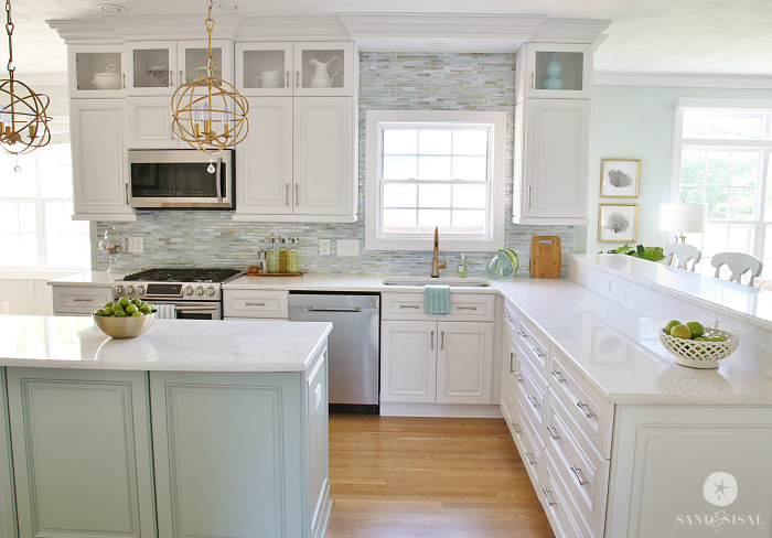 Coastal Kitchen Makeover - the reveal on kitchen backsplash on budget, country kitchen on budget, small kitchen on budget, home decorating on budget, kitchen ideas modern, interior design on budget, kitchen ideas product, kitchen ideas design, kitchen decor on budget, outdoor living on budget, kitchen countertops on budget,
