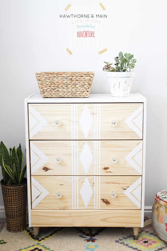 IKEA rast hack Painted Chest