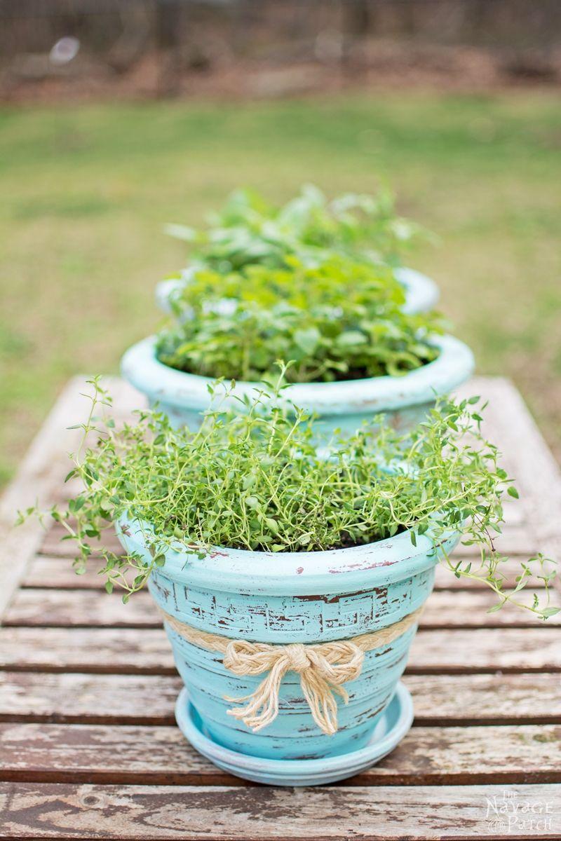 Refinishing-Old-Flower-Pots-