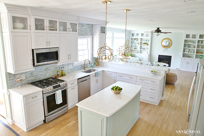 sand and sisals coastal kitchen makeover - Coastal Kitchen Ideas