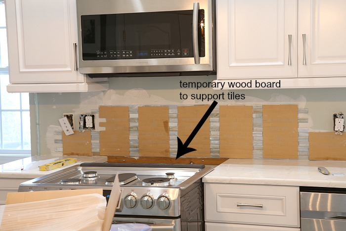 Installing Paper Faced Mosaic Tile Backsplash