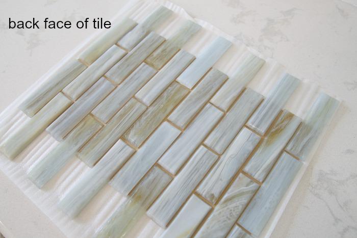 Installing a paper faced mosaic tile backsplash for Installing glass tile with mesh back