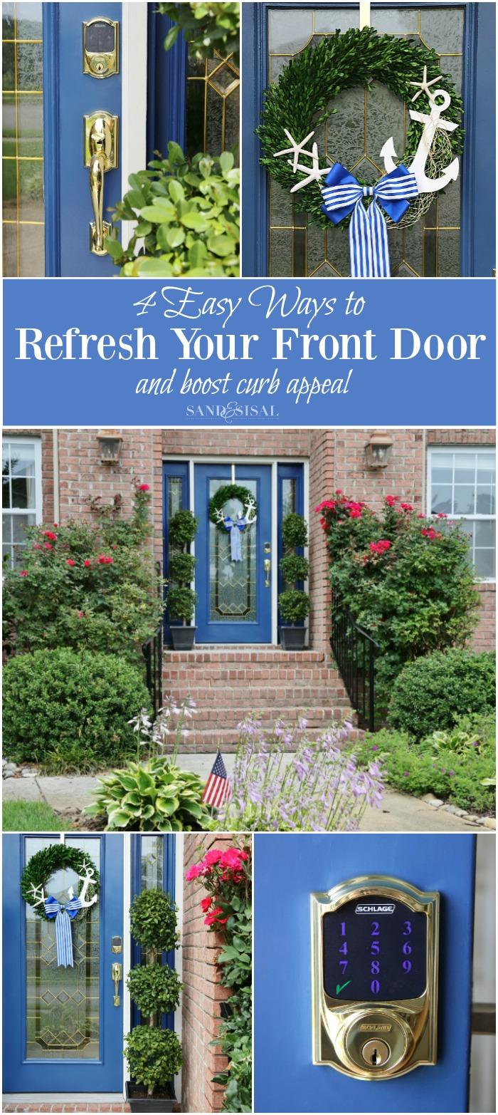 front door curb appeal4 Easy Ways to Refresh Your Front Door
