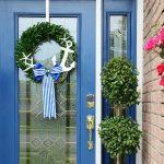 4 Ways to Refresh Your Front Door - Nautical Wreath