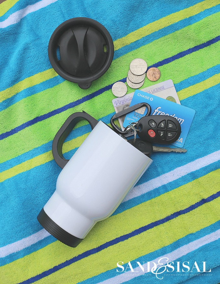 Best Beach Tips - Coffee Cup Camoflage