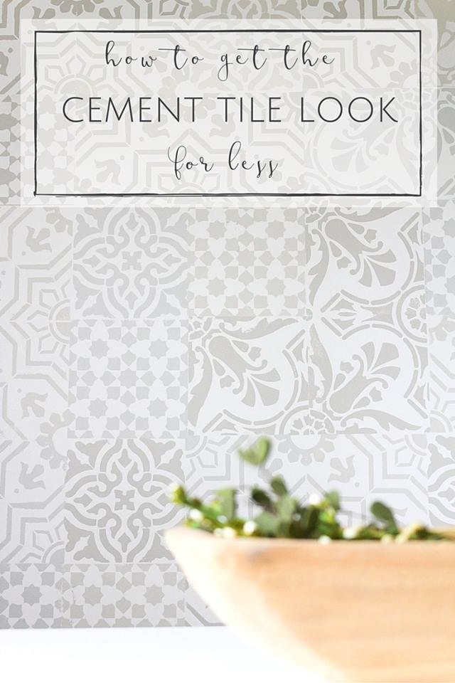 Cement Tile Look for Less