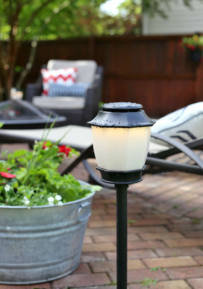 Nutone Haven Lanterns With Built In Mosquito Repellent. Outdoor Patio With  Lighting