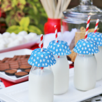 S'mores Bar - Milk Bottles with Cupcake Liners