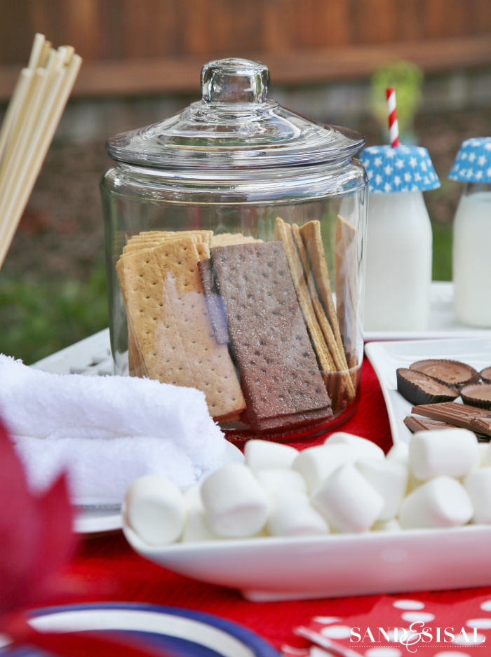 S'mores Bar - Summer Party Ideas - Outdoor Entertaining