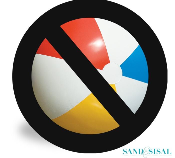 No beach balls