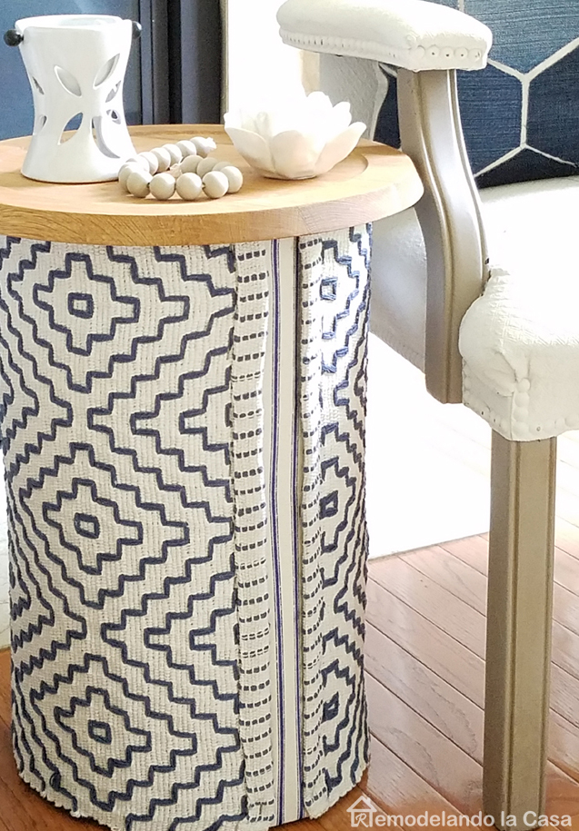 tree stump -side table covered