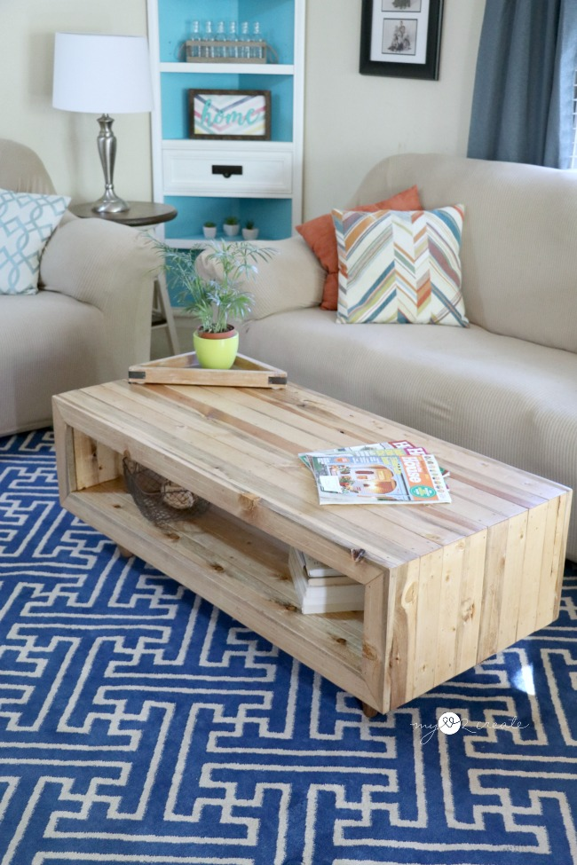 Diy reclaimed wood coffee table my love to create