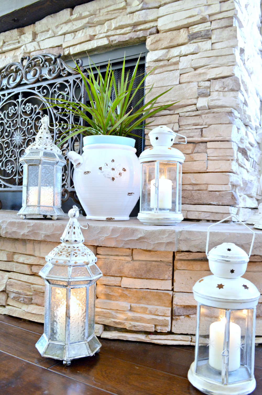 DIY-painted-and-distressed-lanterns