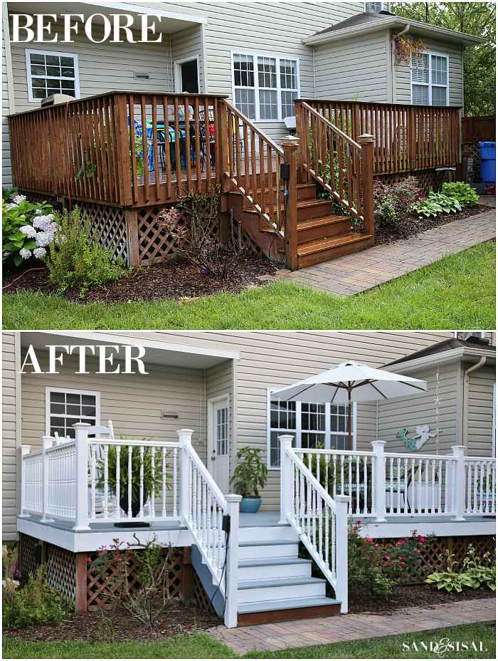 Deck Makeover Before and After 1
