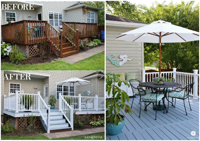 Deck Makeover - Collage