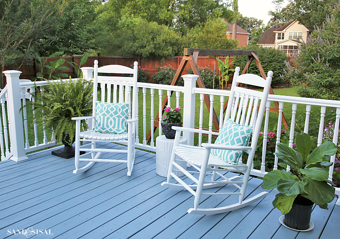 White Vinyl Deck Railing - Deck Makeover
