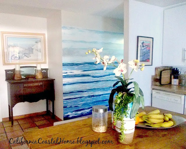 DIY Modern Coastal Wall Mural