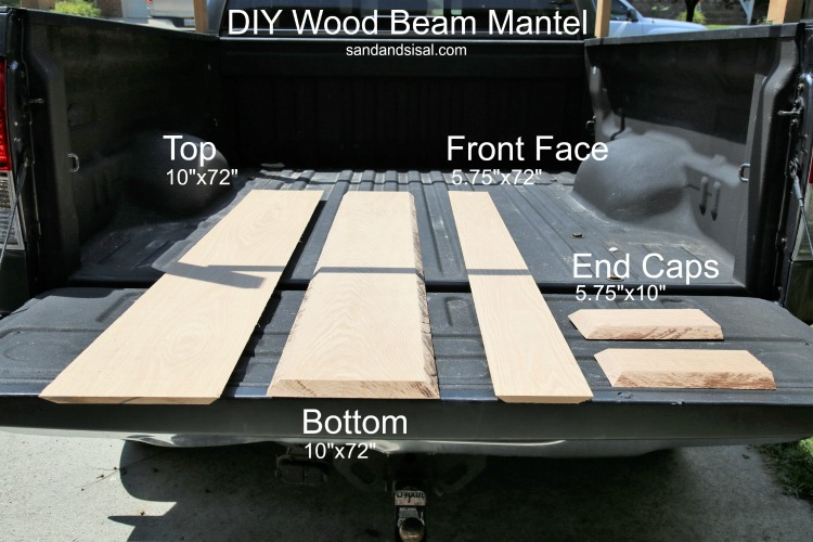 DIY Wood Beam Mantel Dimensions