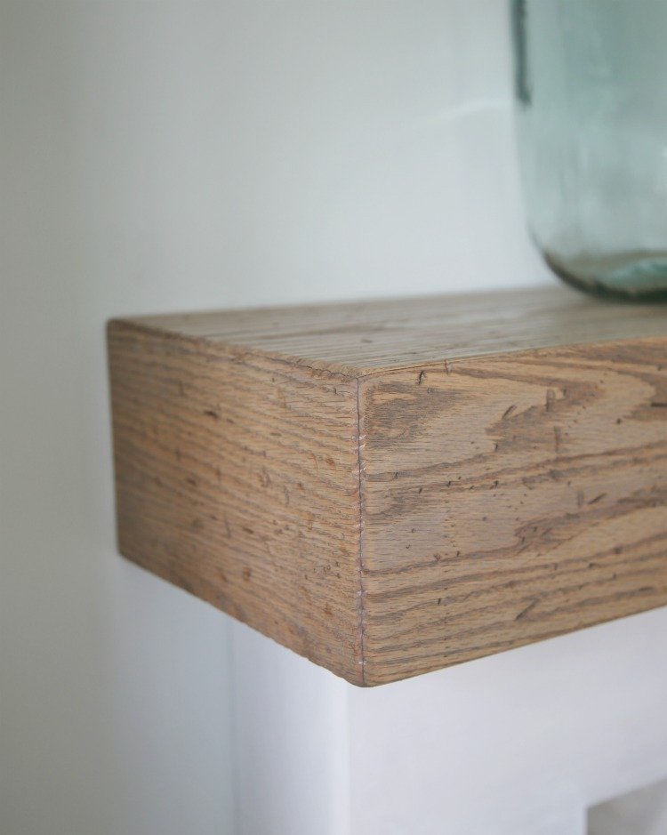 Diy wood beam mantel for Wood box beam