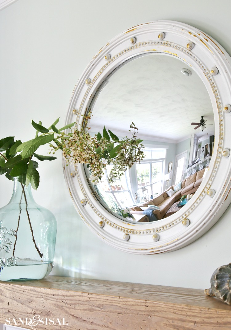 Fisheye Mirror - Coastal Mantel