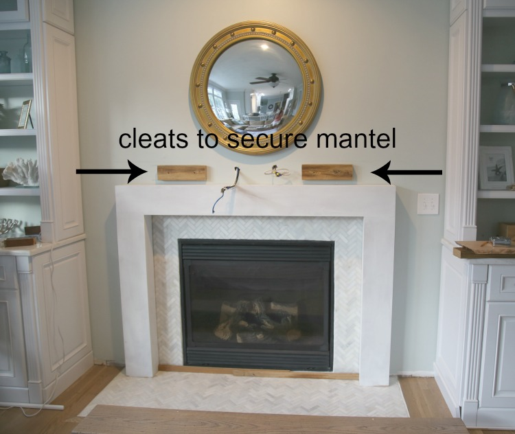 Securing A Wood Beam Mantel