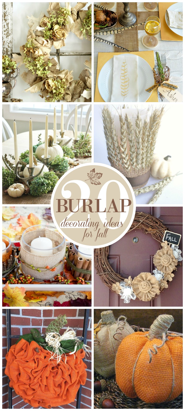 20 beautiful burlap fall decorating ideas sand and sisal for Decorate pictures
