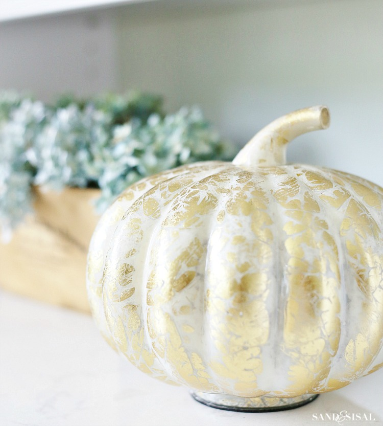 Gold Leaf Pumpkin