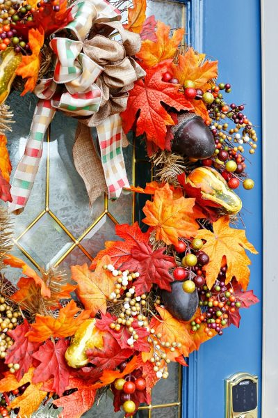 Indigo and Orange Fall Front Porch – Autumn Blog Hop