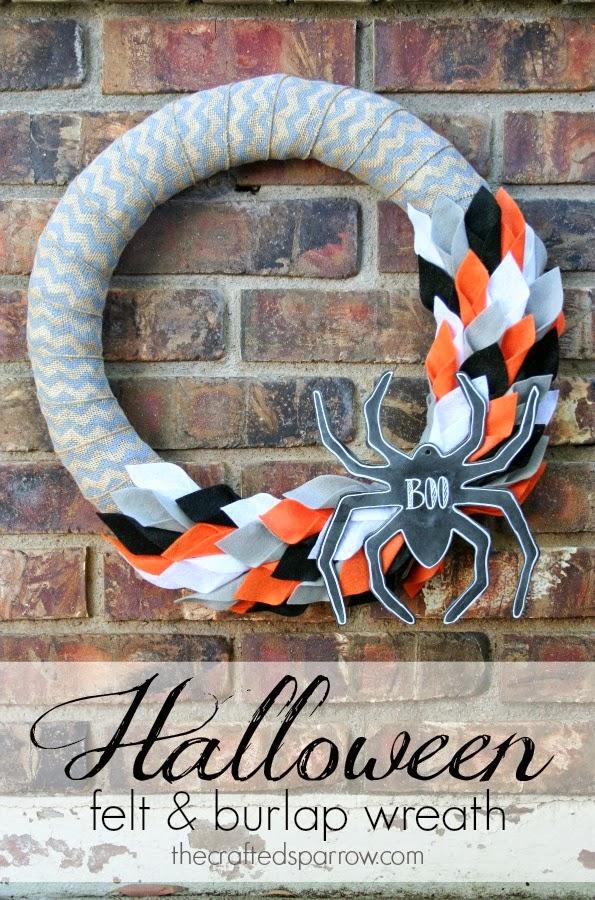 halloween wreath-felt-and-burlap-wreath