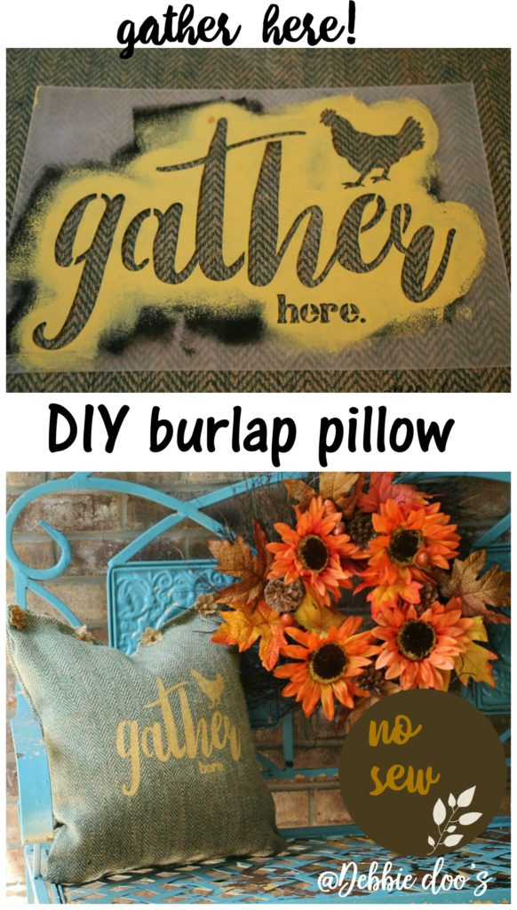 no-sew-burlap-stenciled-pillow-by-debbiedoos