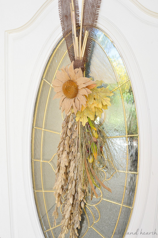 Rustic Burlap Fall Door Swag