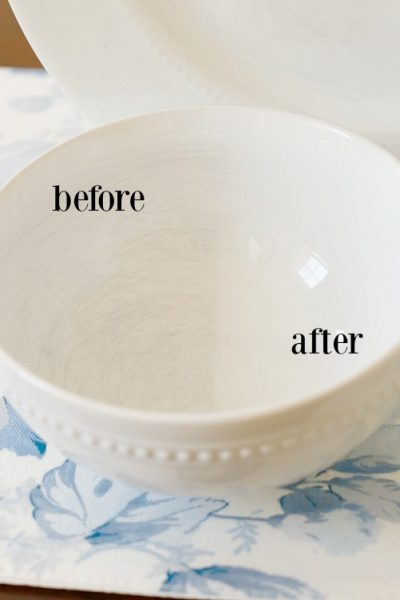 How to Remove Utensil Stratches from Dishes