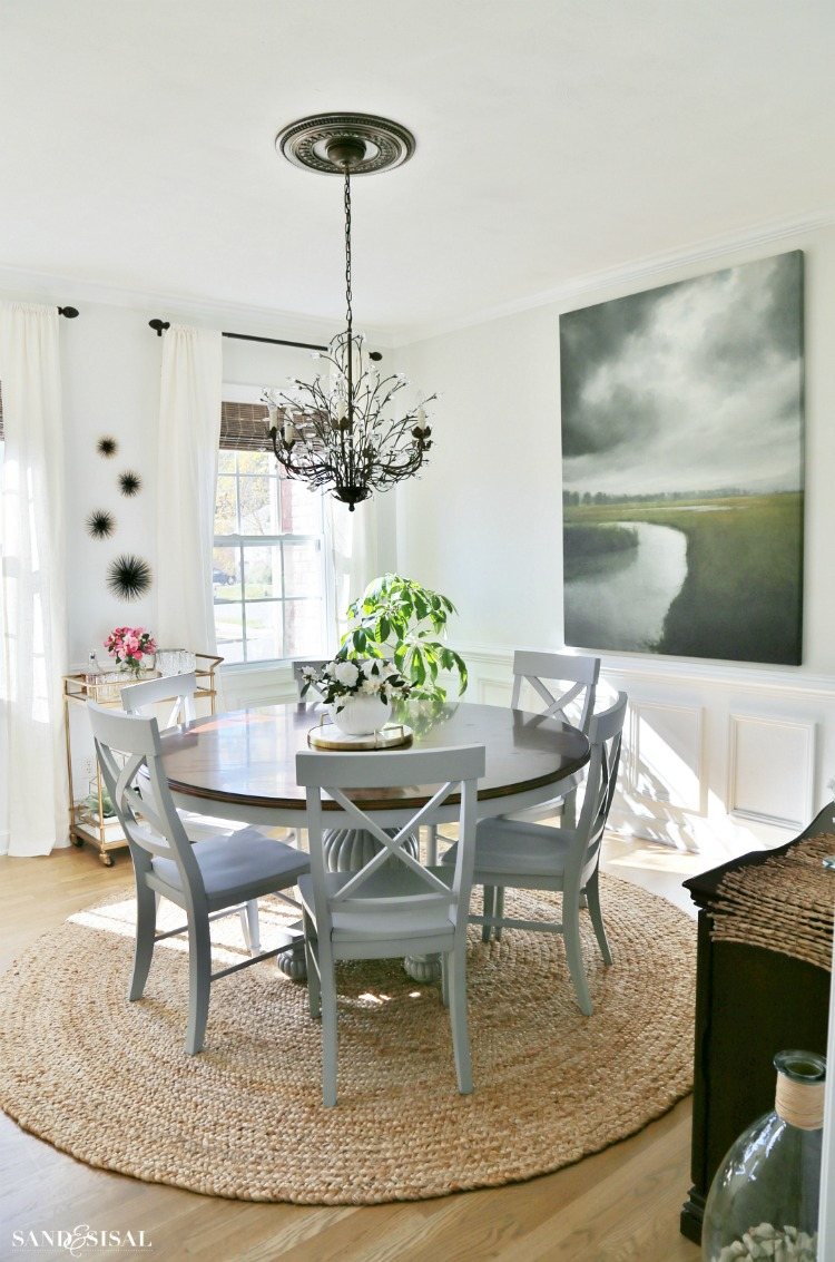 Chic Coastal Dining Room Makeover